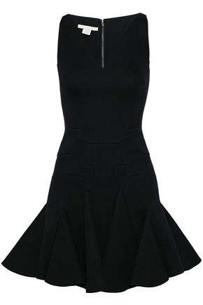ANTONIO BERARDI Flared modal-neoprene mini dress