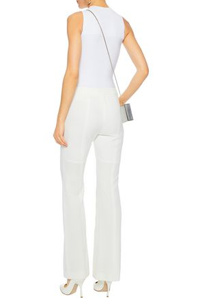 CUSHNIE Ribbed-paneled stretch-jersey bodysuit
