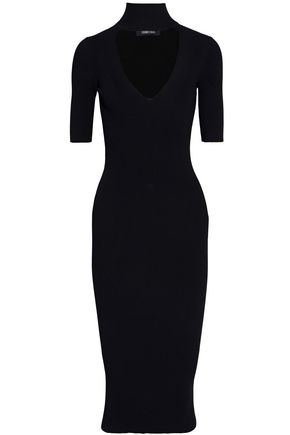 CUSHNIE ET OCHS Cutout ribbed-knit dress