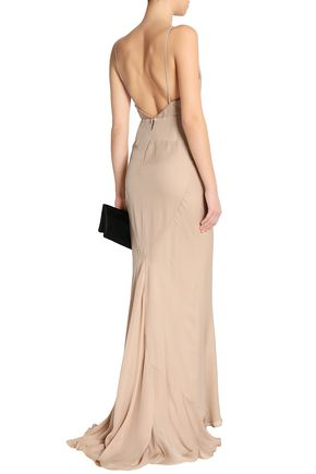 HAUTE HIPPIE Draped silk gown