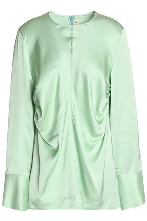 MARNI Gathered satin blouse