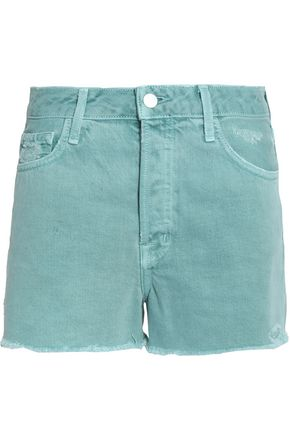 J BRAND Frayed denim shorts
