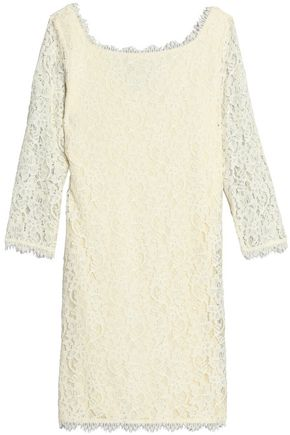 DIANE VON FURSTENBERG Corded lace mini dress