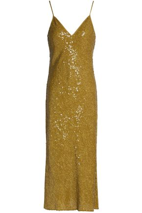 DIANE VON FURSTENBERG Sequined silk midi dress