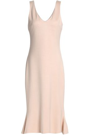 L'AGENCE Fluted stretch-jersey midi dress