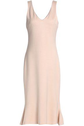L'AGENCE Fluted stretch-jersey midi dress