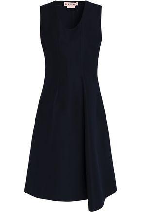 MARNI Asymmetric cotton-cady dress