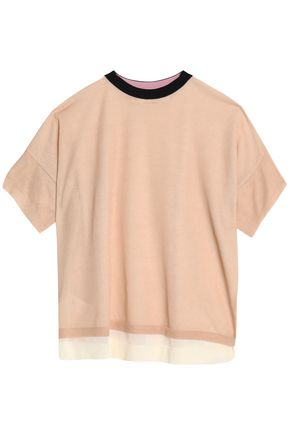 MARNI Layered cotton-blend T-shirt