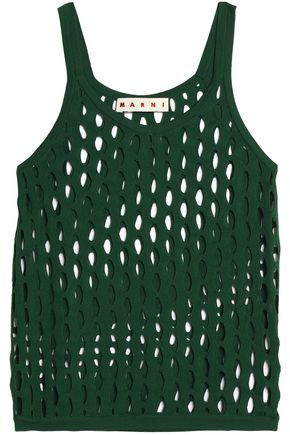 MARNI Open-knit cotton top