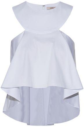 CUSHNIE ET OCHS Flared cotton-blend top