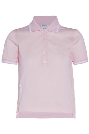 THOM BROWNE Cotton-piqué polo shirt
