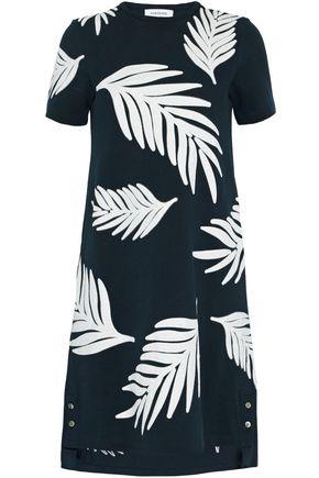 THOM BROWNE Appliquéd cotton-piqué mini dress