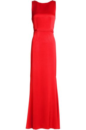 ALICE+OLIVIA Jae open-back satin gown