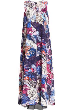 MAISON MARGIELA Printed cotton-blend guipure lace maxi dress