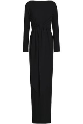 CHALAYAN Tie-front cutout crepe gown