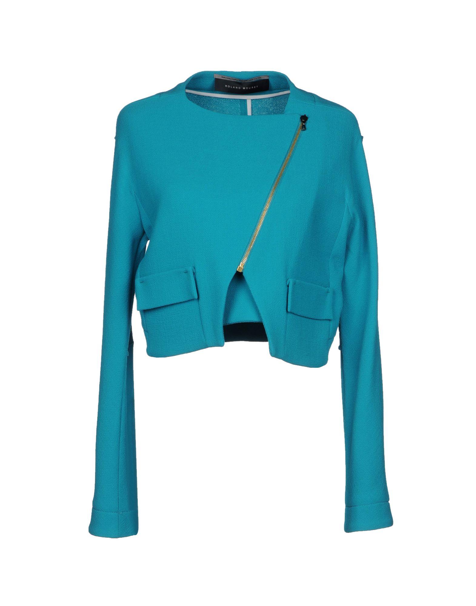 《セール開催中》ROLAND MOURET レディース テーラードジャケット ターコイズブルー 10 ウール 100%