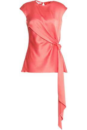 OSCAR DE LA RENTA Knotted satin top