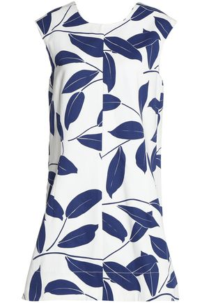 MARNI Printed cotton and linen-blend tunic
