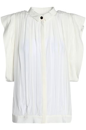 VIONNET Pleated silk shirt