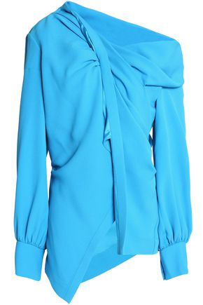 OSCAR DE LA RENTA Draped crepe top