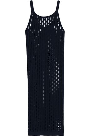 MARNI Split-back open-knit cotton midi dress