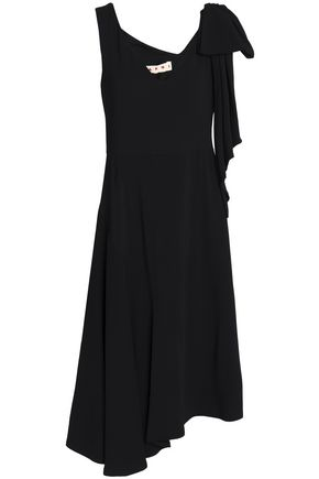 MARNI Asymmetric crepe de chine dress