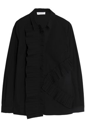 VIONNET Pleated cotton-poplin shirt