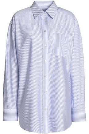 MAISON MARGIELA Striped cotton-poplin shirt