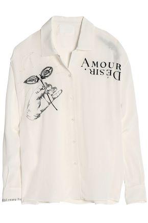 MAISON MARGIELA Embroidered silk shirt