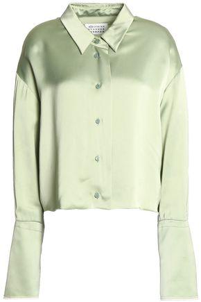 MAISON MARGIELA Cropped satin-crepe blouse
