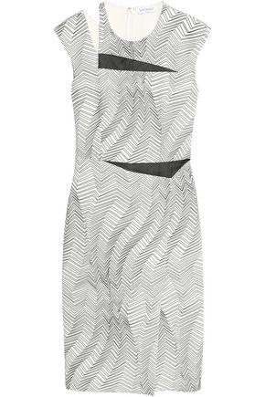 VIONNET Cutout printed crepe dress