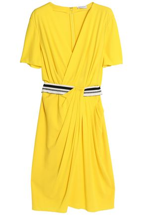 VIONNET Wrap-effect asymmetric draped crepe dress