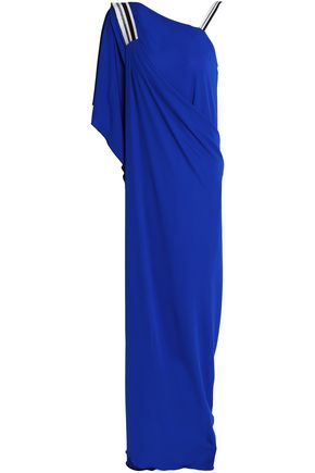 VIONNET Asymmetric draped crepe gown