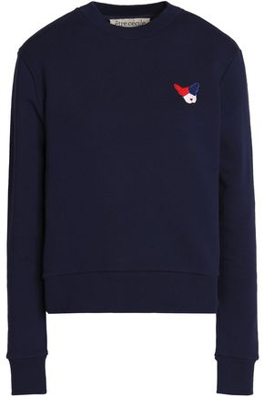 ÊTRE CÉCILE Appliquéd cotton-terry sweatshirt