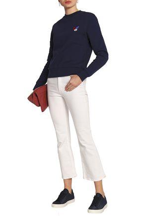 ÊTRE CÉCILE Appliquéd cotton-terry sweatshirt