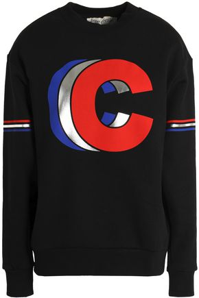 ÊTRE CÉCILE Metallic printed cotton-terry sweatshirt