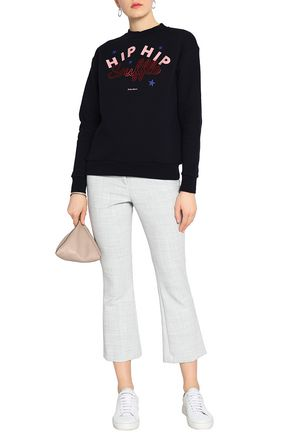 ÊTRE CÉCILE Printed cotton-terry sweatshirt