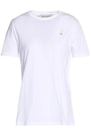 ÊTRE CÉCILE Appliquéd printed cotton-jersey T-shirt
