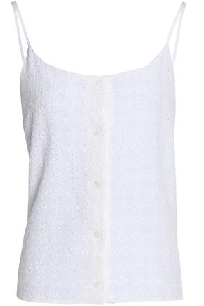 EQUIPMENT Broderie anglaise silk crepe de chine camisole