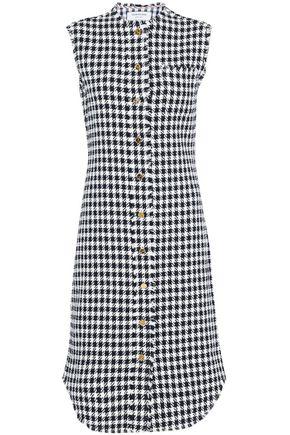 THOM BROWNE Frayed houndstooth cotton-tweed dress