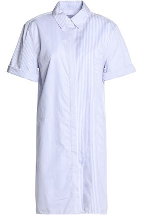 EQUIPMENT Striped cotton-poplin mini shirt dress