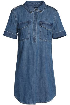 EQUIPMENT Cotton-chambray mini shirt dress