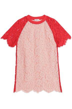 GOEN.J Two-tone paneled corded lace mini dress