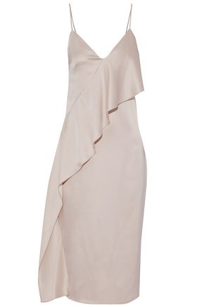 CUSHNIE ET OCHS Ruffled silk-satin midi dress