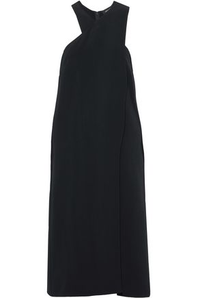 CUSHNIE ET OCHS Draped crepe midi dress