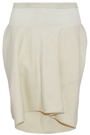 RICK OWENS Layered wool-blend twill shorts