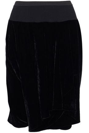 RICK OWENS Layered velvet shorts