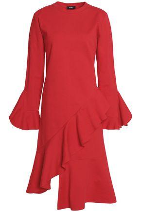 GOEN.J Ruffled cotton-ponte midi dress