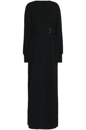 GOEN.J Belted cotton-terry maxi dress