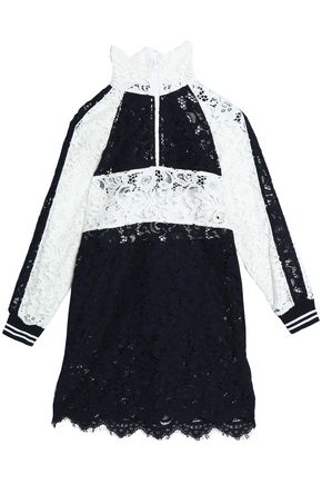 GOEN.J Color-block corded lace dress